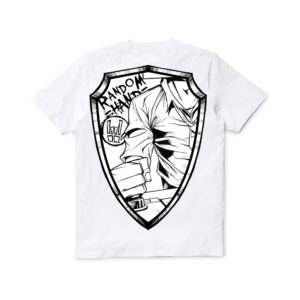 White Breast Patch & Shield – T-shirt