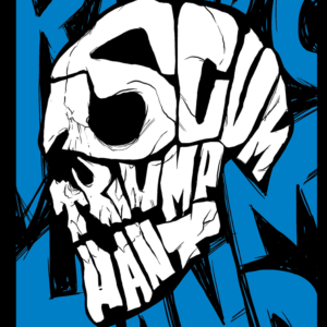Blue Scum Skull – T-shirt