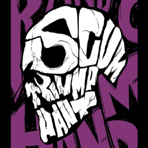 Purple Scum Skull – T-shirt