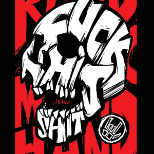 Fuck This Shit Skull – T-shirt – Red